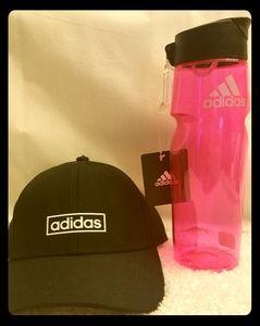 New Adidas hat& water bottle
